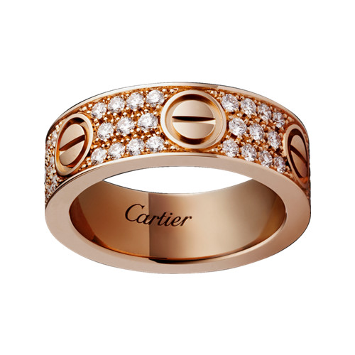 cartier love anello copia rosa Oro coperto diamante