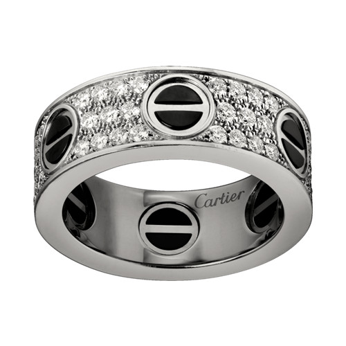 falso cartier love anello bianco con diamanti