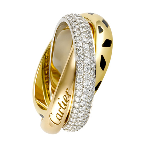 trinity de Cartier anello oro diamanti replica N4226500